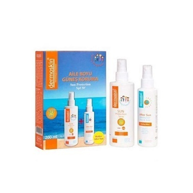 Dermoskin  Sun Protection Spray SPF50+ Cream 200ml Kofre Renksiz
